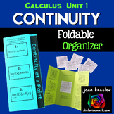 Calculus Continuity Foldable Activity Interactive Trifold