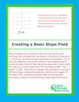 Calculus:  Creating a Slope Field