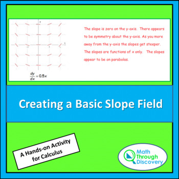 Calculus:  Creating a Basic Slope Field