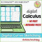 Digital Curve Sketching Activity for Google Slides™ Distan