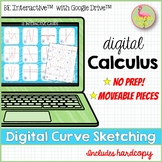 Digital Curve Sketching Activity for Google Slides™ Distan