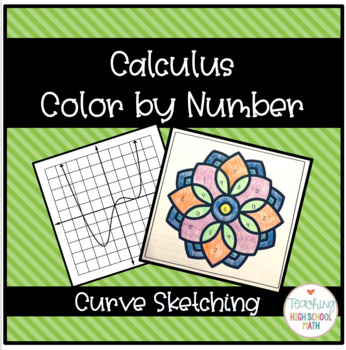 Calculus Curve Sketching Color by Number