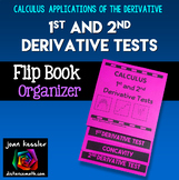 Calculus Curve Sketching First and Second Derivative Tests Flip Book Foldable