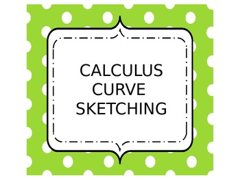Calculus Curve Sketching Packet and Graphic Organizer Stickers
