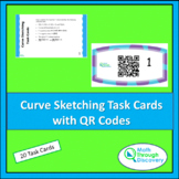 Curve Sketching Task Cards with QR Codes