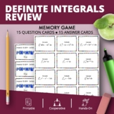 Calculus: Definite Integrals REVIEW Math Memory Game