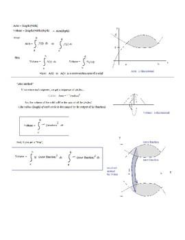 Calculus Definite Integrals: Volume of Solids