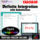 Calculus Definite Integration with Substitution with Google™ Forms Self Grading