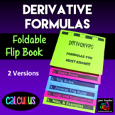 Calculus Derivative Formulas Flip Book Foldable