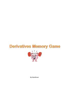 Calculus Derivative Memory Game