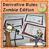 Calculus: Derivative Task Cards Zombie Edition