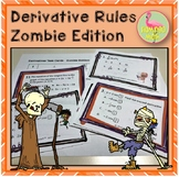 Calculus Derivatives Task Cards Zombie Edition