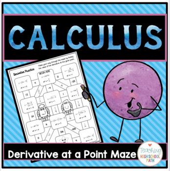 Calculus Derivative at a Point Maze