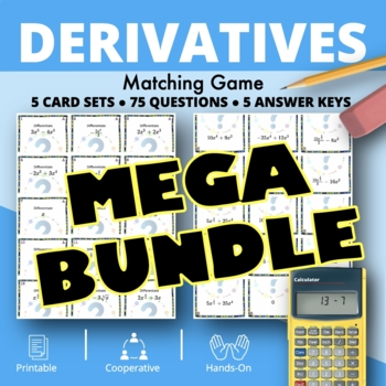 Calculus Derivatives BUNDLE: Matching Games