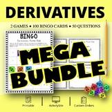 Calculus Derivatives BUNDLE: Math Bingo Review Game