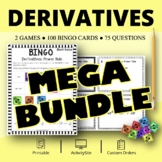 Calculus Derivatives BUNDLE: Math Bingo Review Game