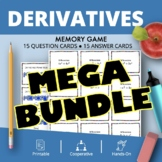 Calculus Derivatives BUNDLE: Math Memory Games