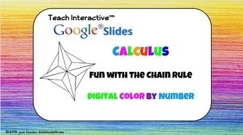 Calculus Derivatives - Chain Rule Color by Number with GOOGLE Slides