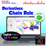 Calculus Derivatives - Chain Rule Color by Number with GOOGLE Slides™