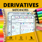 Calculus Derivatives: Doodle Notes with PowerPoint