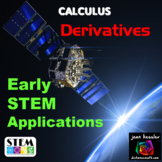 Calculus Derivatives Early STEM Real World Applications Task Cards and More