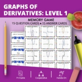 Calculus: Graphs of Derivatives Math Memory Game