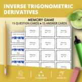 Calculus Derivatives: Inverse Trig Math Memory Game