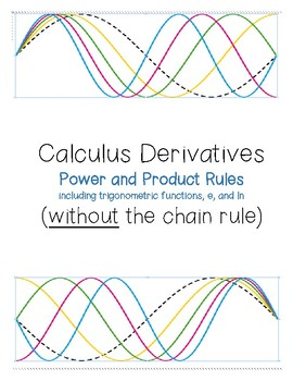 Calculus Derivatives Power & Product Rules WITHOUT a Chain (includes trig,e,ln)