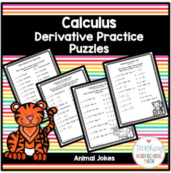 Calculus Derivatives Practice with Animal Jokes