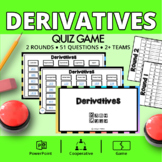 Calculus Derivatives Quiz Game: Jeopardy Style Math Review