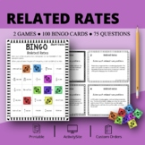 Calculus Derivatives: Related Rates Math Bingo Review Game
