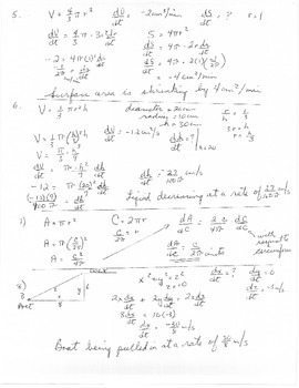 Calculus - Derivatives - Related Rates practice problems