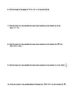 Calculus: Derivatives Review
