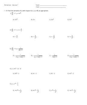 Calculus Derivatives End of Unit Review Bundle Tests Task Cards HW  QR
