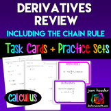 Calculus: Derivatives  End of Unit Review Worksheets  HW T