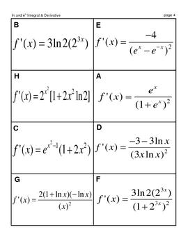 Calculus Derivatives and Integrals MatchingMania