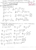 Calculus: Derivatives of Exponential / Logarithm Functions, Q+A