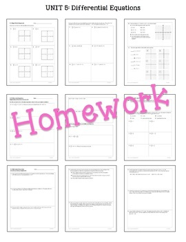 Calculus: Differential Equations Homework Only Bundle