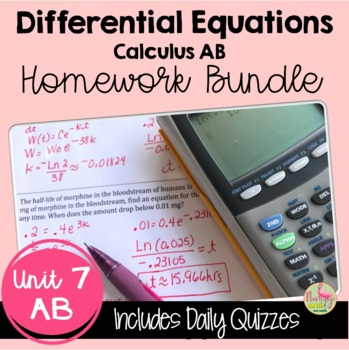 Calculus: Differential Equations Homework Only