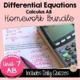 Differential Equations Homework (AB Version - Unit 7)