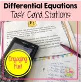 Calculus Differential Equations Stations Activity (Unit 7)
