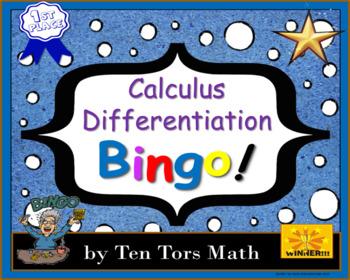 Calculus - Differentiation Bingo Activity