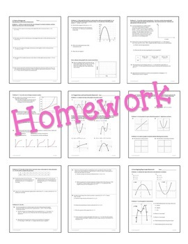 Calculus: Differentiation Guided Notes & Homework Bundle