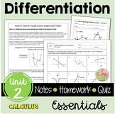 Differentiation Essentials (Calculus - Unit 2)