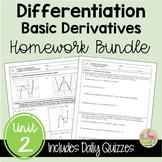 Calculus Differentiation Homework (Unit 2)