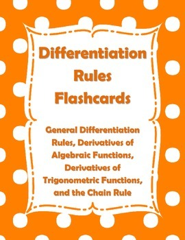 Calculus Differentiation Rules Flashcards