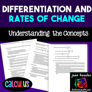 Calculus Differentiation and Rates of Change