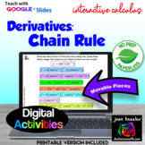 Calculus Derivatives by the Chain Rule with GOOGLE Slides™ Distance Learning