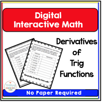 Calculus Digital Interactive Math Derivatives of Trig Functions