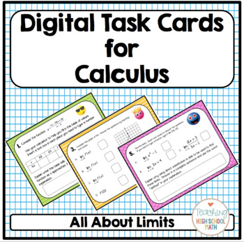Calculus Digital Task Cards All About Limits